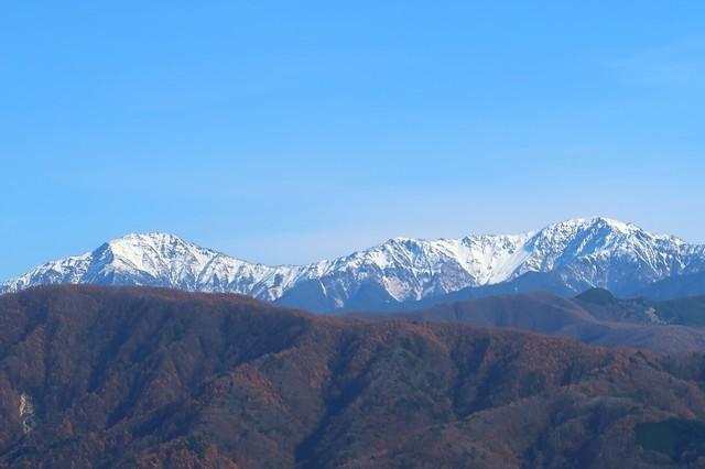 陣馬形山キャンプ場から南アルプスの眺望