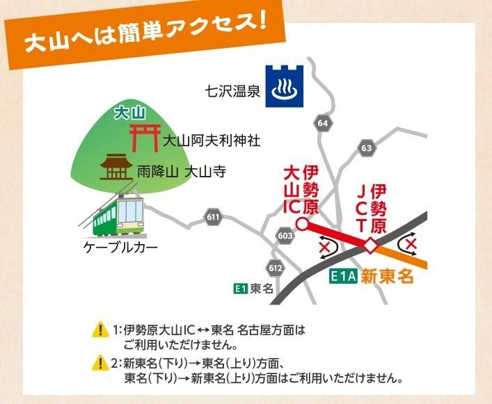 丹沢大山へのアクセスの注意伊勢原大山インターチェンジ方面の分岐を間違えてしまうと面倒点