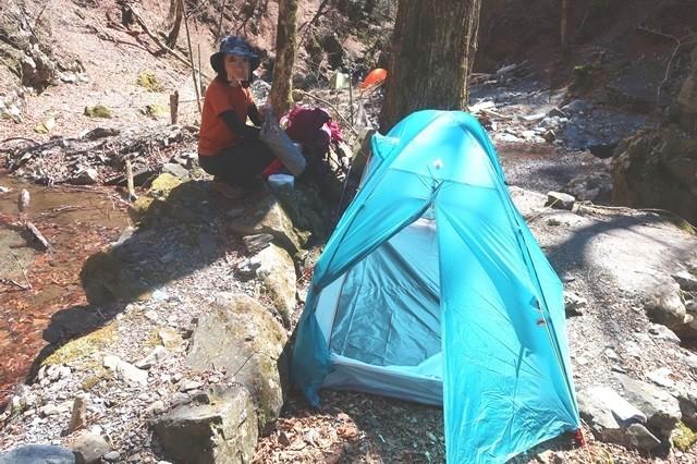無事にテントを設営