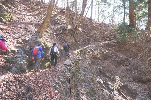 三条の湯から雲取山登山ルート一番危ない箇所