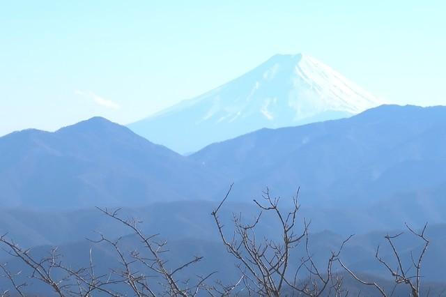 スケルトンな感じの富士山の景色