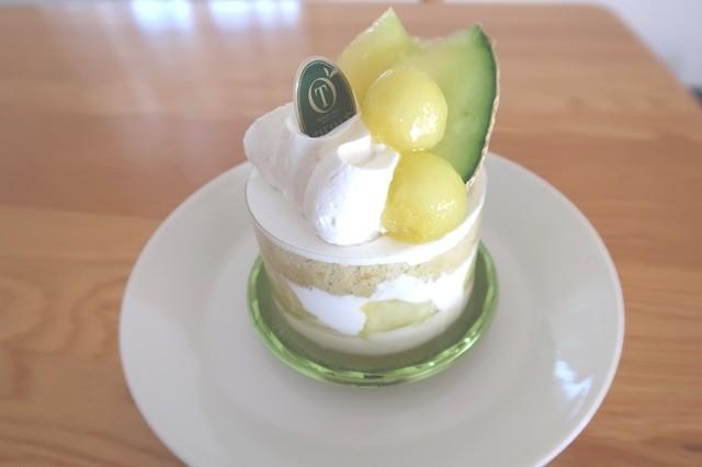 タカノフルーツパーラーのメロンのケーキ