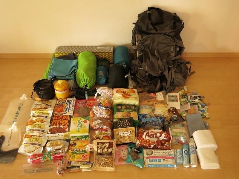 4泊5日南アルプスを縦走した時の持ち物と登山装備