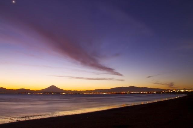山の日・海の日・夕日と富士山・海の景色