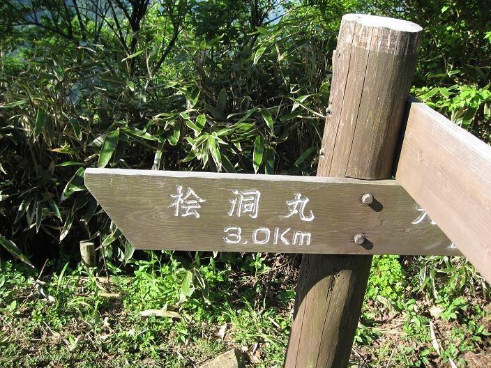 用木沢のルート分岐の景色
