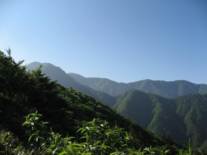 目指す檜洞丸方面の景色