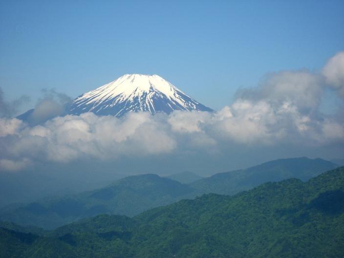 檜洞丸富士山の景色