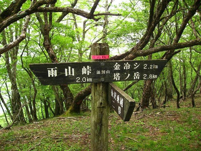 鍋割山から塔ノ岳まで距離は約2.8km