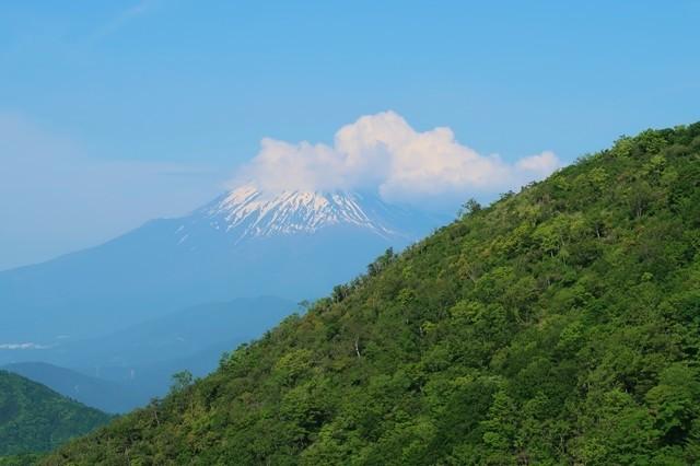 花立山荘から見る富士山景色