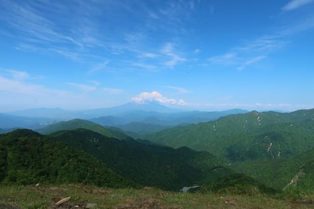 f:id:aohige0718:20200531164429j:plain>塔ノ岳から見る富士山景色