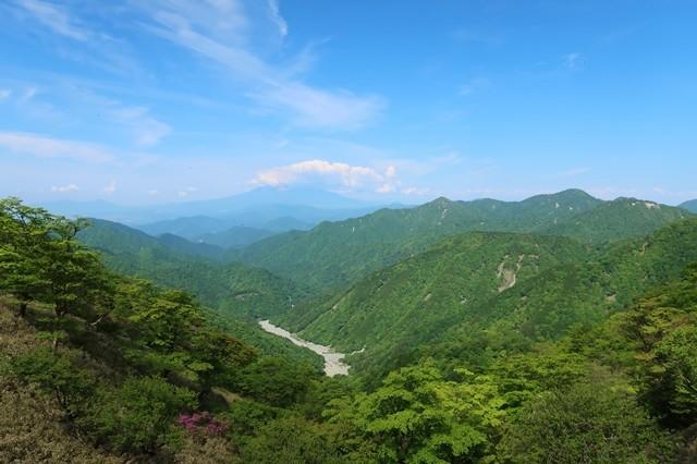 丹沢山登山道富士山が綺麗に見える場所