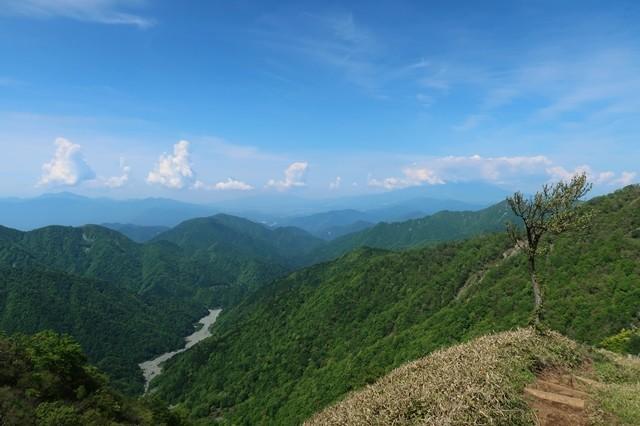 丹沢蛭ヶ岳山荘へのルートの詳細景色
