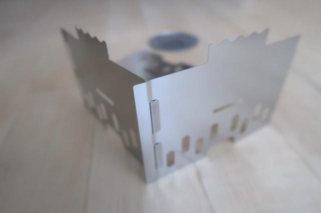 エスビットステンレスストーブの組み立て方アップの写真