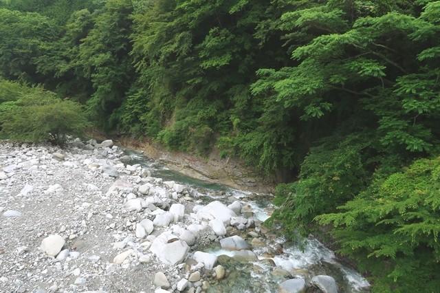 吊橋からの丹沢の景色
