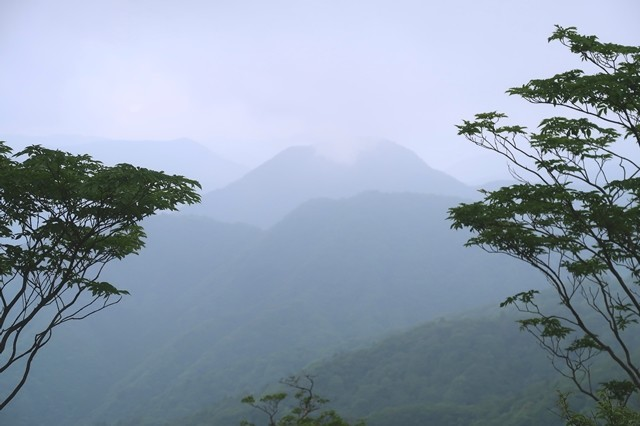加入道山から見る西丹沢の山並