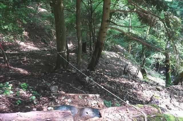 犬越路から用木沢へのルート