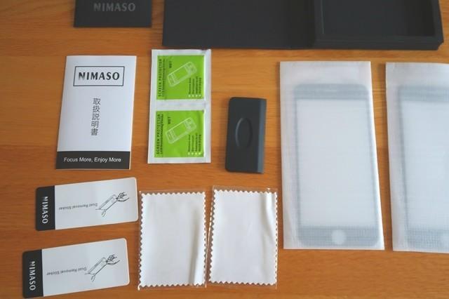 NIMASOスマホガラスフィルム貼る為の付属品