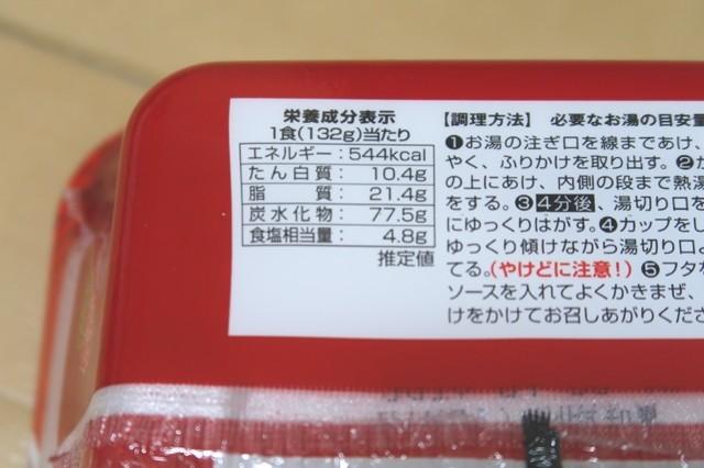 台湾まぜそば1食あたりカロリーと脂質量