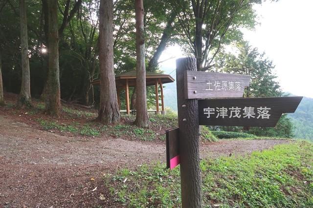 宇津茂集落(寄バス停方面)・土佐原集落との分岐