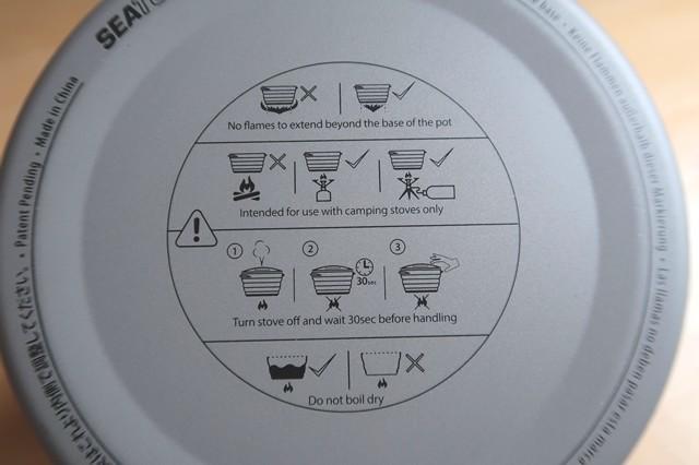 鍋底に使用できる火器類についての注意記載がある