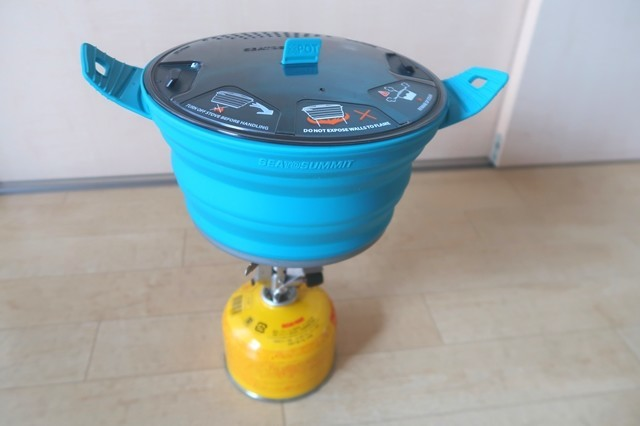 シートゥサミットクッカーX-ポット折り畳み式シリコン鍋