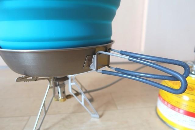 ライパンの側面が、鍋の側面に触れていないので調理大丈夫