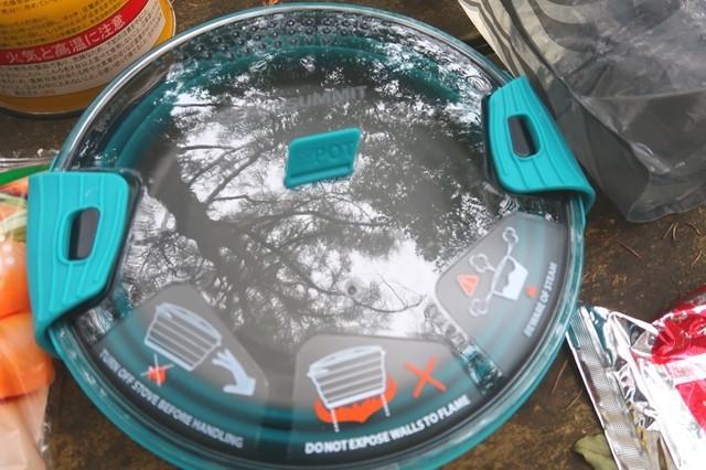 シートゥーサミットクッカーX-ポットという2.8Lの鍋でラーメンを調理