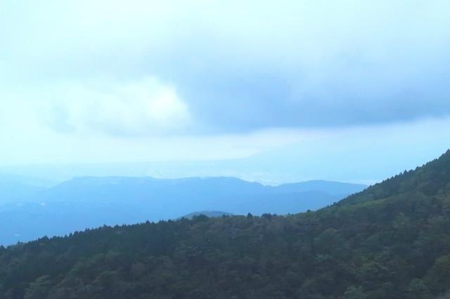 檜岳山稜からの相模湾の景色