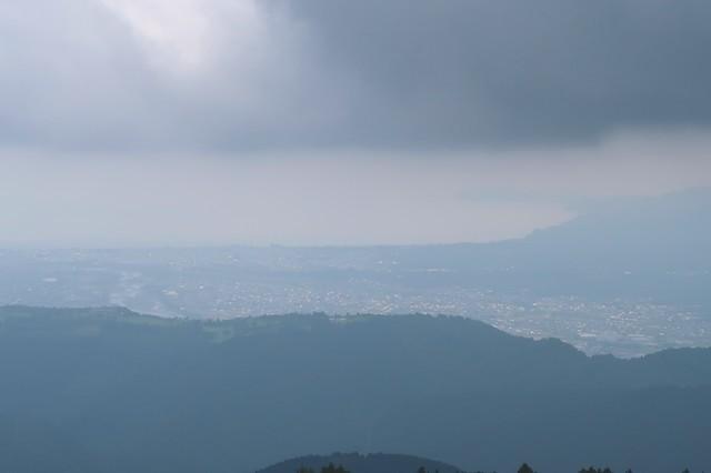 檜岳山稜からの真鶴半島の景色