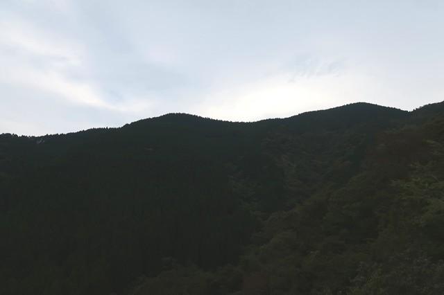ジダンゴ山方面の山並み