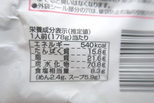 生麺タイプの純連の味噌ラーメンカロリー
