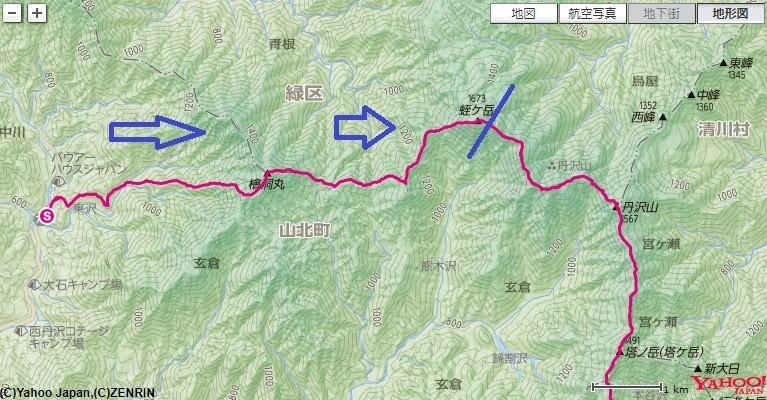 つつじ新道から入山ゴーラ沢出合を経由して檜洞丸~臼ヶ岳~蛭ヶ岳ルート