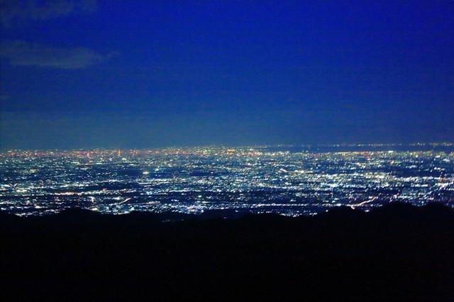 関東の夜景をナイトハイクで観賞