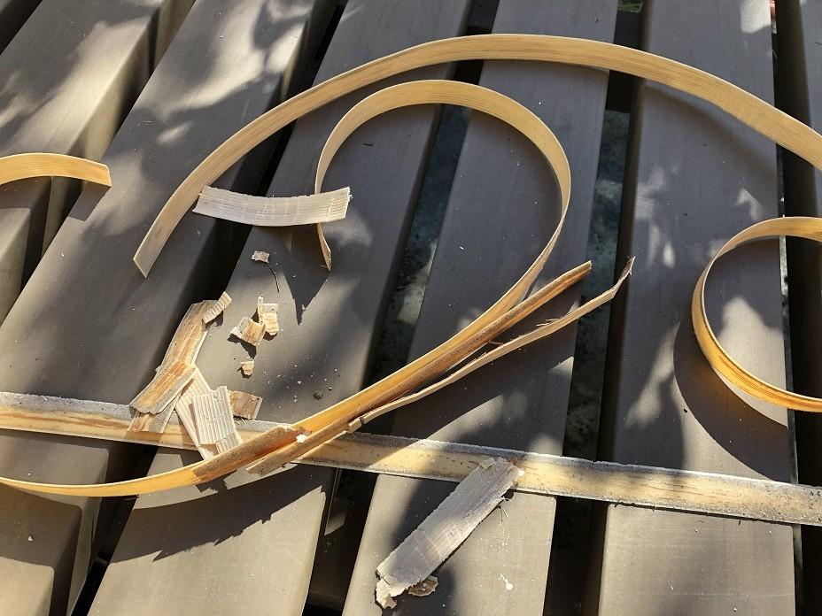 古い障子レールテープの残骸