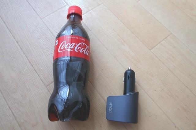 シガーソケットの充電器のサイズ
