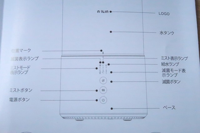 milinの除菌加湿器の機能と性能
