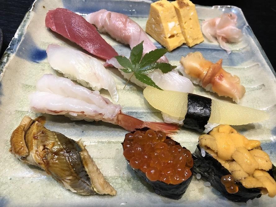 瓢亭のお寿司