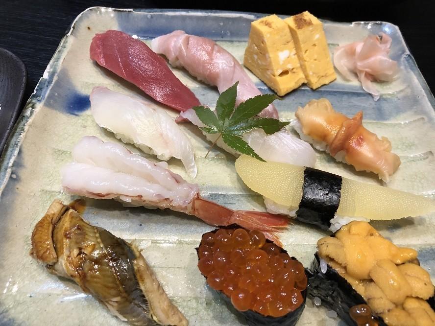 瓢亭伊勢原のお寿司