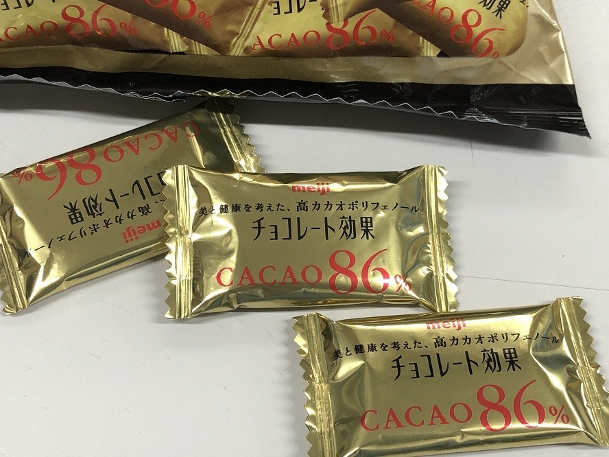 高カカオ商品であるチョコレート効果86%味のレビュー