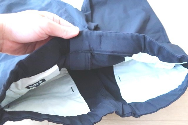 ヘリーハンセンのズボンポケットの内側