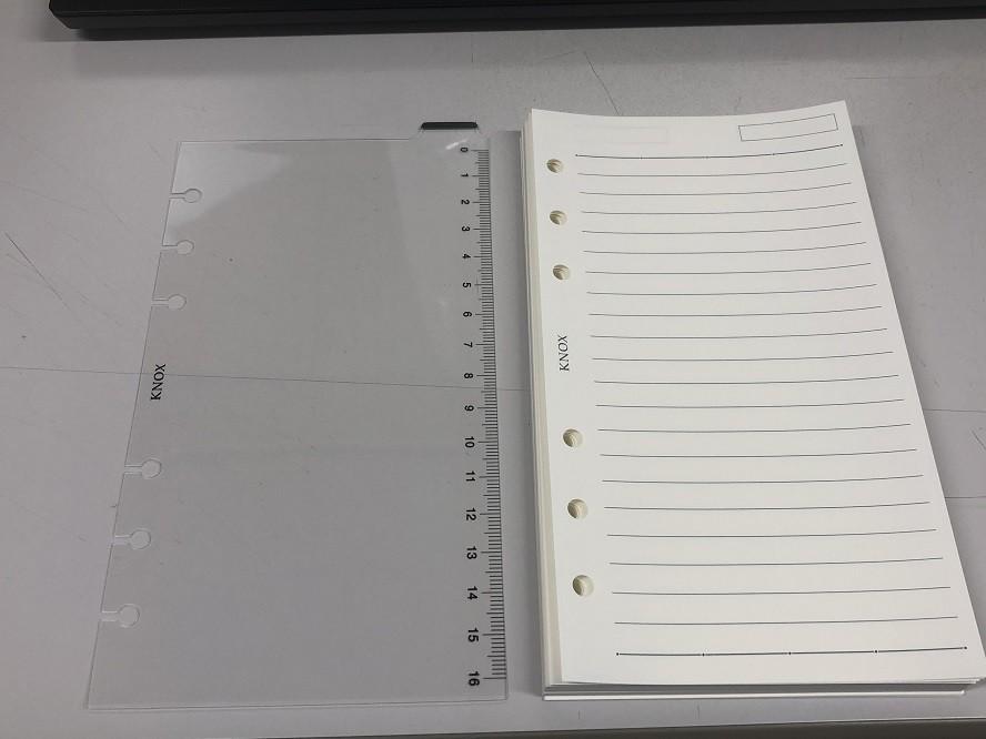 KNOXの下敷きとメモ罫線用紙