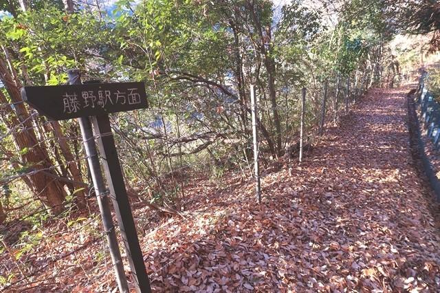 岩戸山登山道の道標