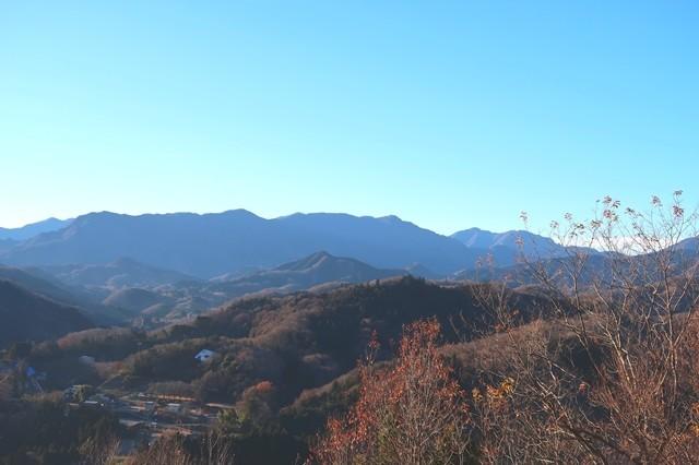 岩戸山の登山道の展望