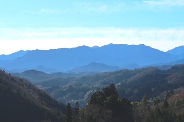 道志山塊方面の景色