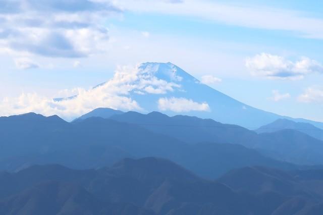 陣馬山からの富士山の景色