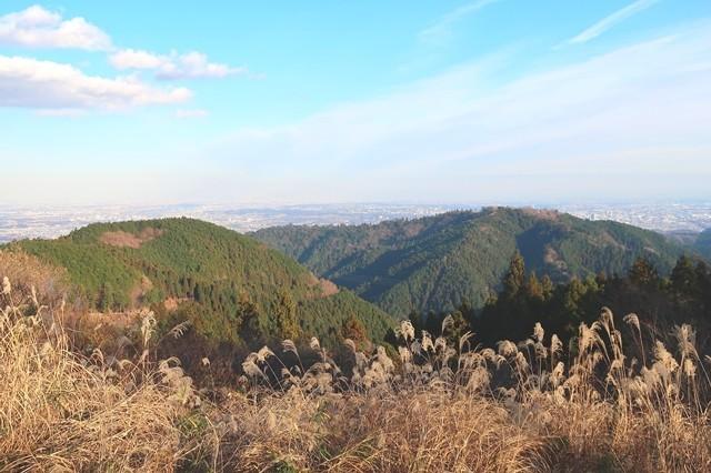 小仏城山から高尾山方面の景色