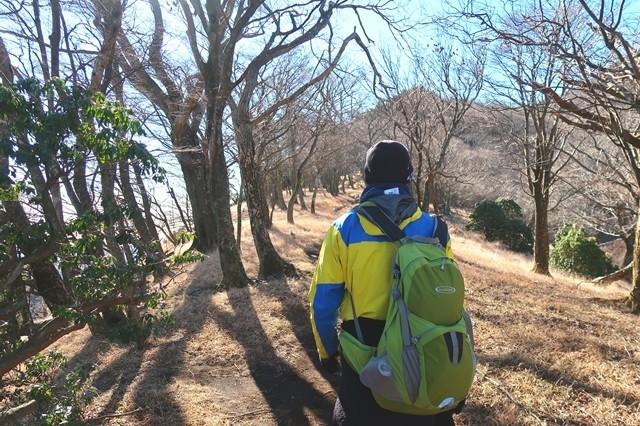 大山初詣登山に来た北海道の登山者