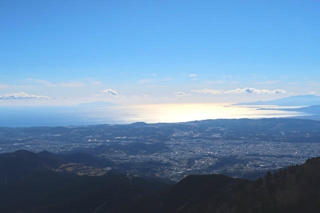 大山の相模湾の景色