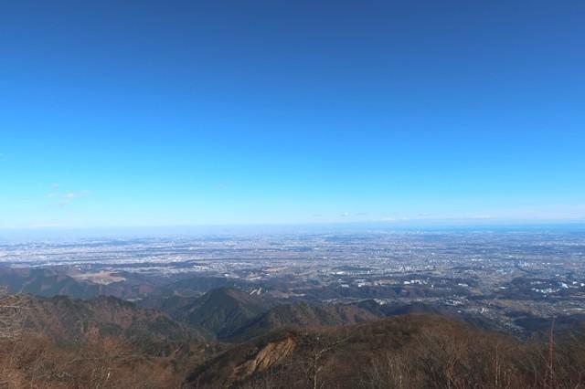 大山からスカイツリーの景色も見えた