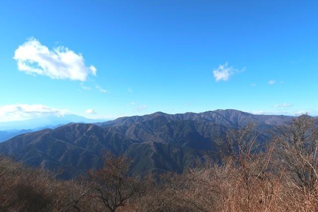 大山初詣登山の景色